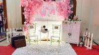 Modern Pink Sakura Flower Dekor CMYK